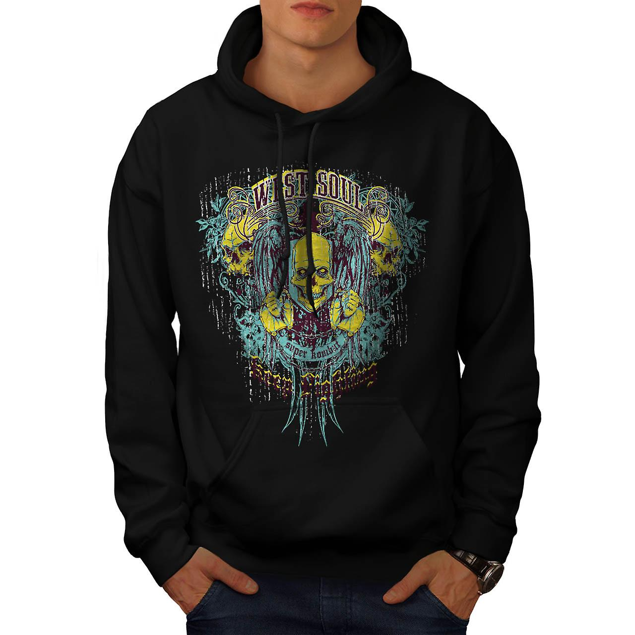 West Soul Lightning Super Combat Men Black Hoodie | Wellcoda