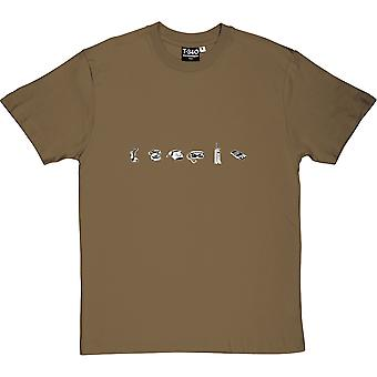 The Evolution of Telephones Men's T-Shirt