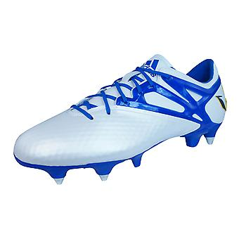 adidas Messi 15.1 SG Mens Football Boots / Cleats - White