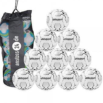 10 x Uhlsport training ball - TRI CONCEPT 2.0 team includes ball sack
