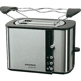 Toaster with home baking attachment Grundig TA 5260 Black Line Stainless steel, Black