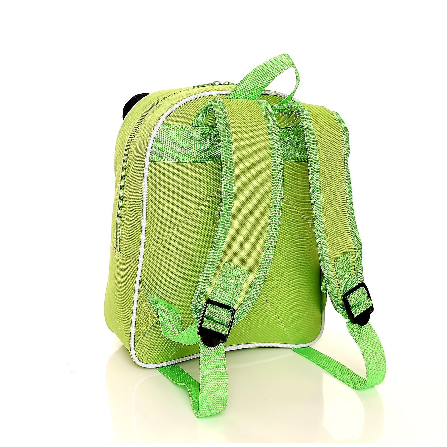 Karabar Wildlife Kids Panda Backpack, Green