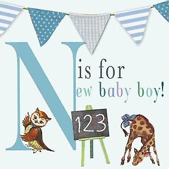 N Is For New Baby Boy! - Card