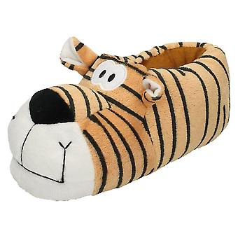 Unisex Junior Flat Novelty Tiger Slippers X2074