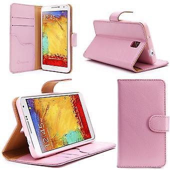 i-Blason Samsung Galaxy nota III teléfono inteligente cuero libro delgado rosa