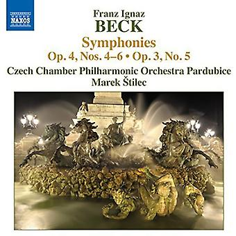 Beck / Czech Chamber Philharmonic Orch - Syms Op. 4 4-6 [CD] USA import