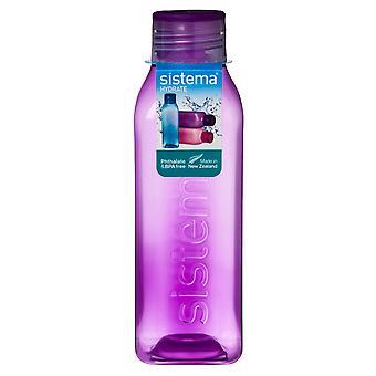 Bouteille de boisson carrés de 725ml Hydrate de Sistema, violet