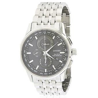 Citizen Eco-Drive wereld Chronograph A-T Mens Watch AT8110-53E