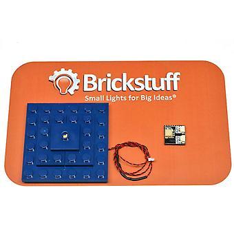 Brickstuff blå boks rumskib pulserende tag lys, QuicKit - KIT14