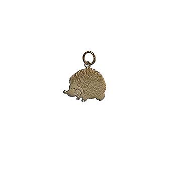9ct Gold 19x15mm Hedgehog looking left Pendant or Charm