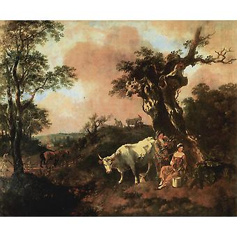 Thomas Gainsborough - Cattle Poster Print Giclee