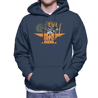 デックスターズラボ研究所正義の友人男性フード付きスウェット シャツ