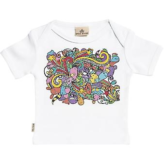 Spoilt Rotten Cartoon Print Short Sleeve Baby T-Shirt