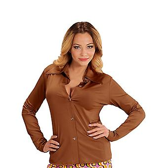 GROOVY 70'S LADY SHIRT - BROWN