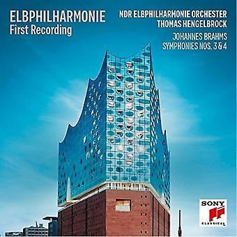 Thomas Hengelbrock - Elb-Philharmonie premier enregistrement - Brahms: Importer des USA Sinfonien 3 et 4 [CD]