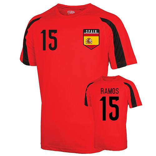 Spain Sports Training Jersey (ramos 15) - Kids