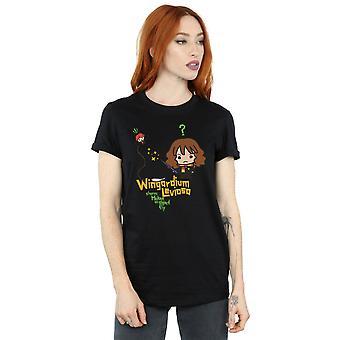 Harry Potter Women's Hermione Granger Wingardium Leviosa Junior Boyfriend Fit T-Shirt