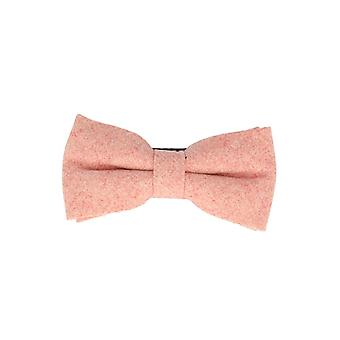 Snobbop-bound fly orange salmon loop cotton bow tie