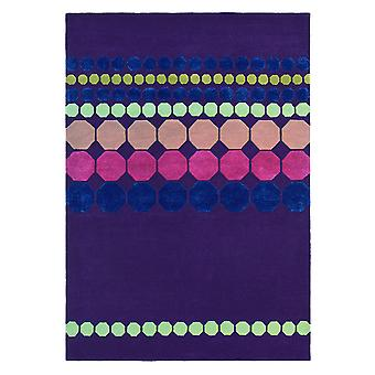 Barren Deep Purple Geometric Rugs - Ted Baker 57202