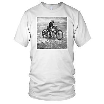 Classic Motorycle B&W Biker Motorbike Racer Kids T Shirt