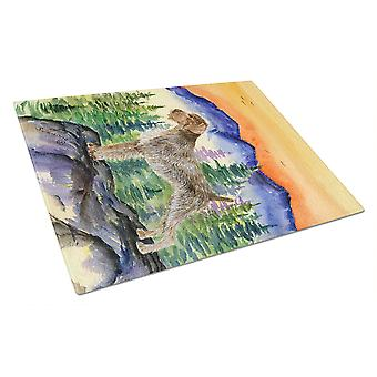 Carolines Treasures  SS8226LCB German Wirehaired Pointer Glass Cutting Board Lar
