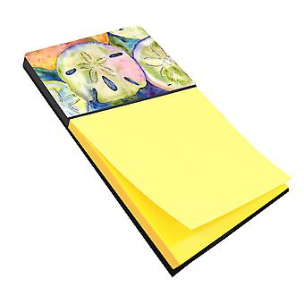 Sand Dollar Refiillable Sticky Note Holder or Postit Note Dispenser