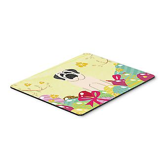 Easter Eggs Mastiff White Mouse Pad, Hot Pad or Trivet