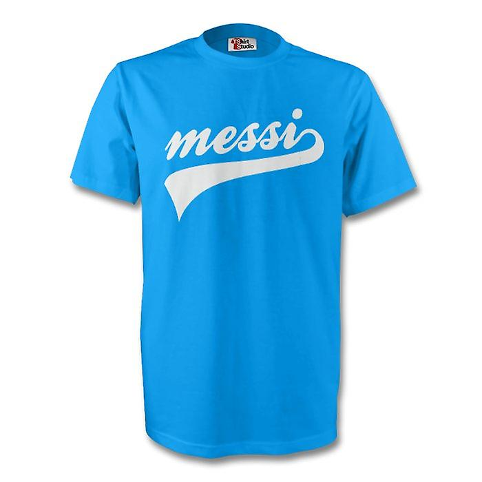 Lionel Messi Argentina Signature Tee (sky Blue) - Kids