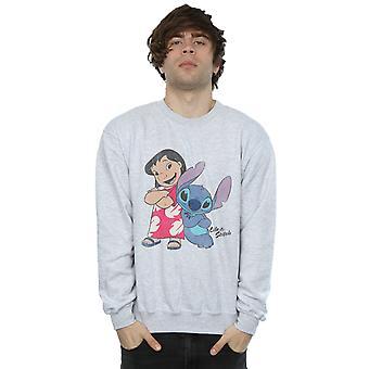 Disney Men's Lilo & Stitch Classic Lilo & Stitch Sweatshirt