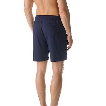 Jefferson color sólido azul pijama Pijama Mey 65650 668 hombres corto