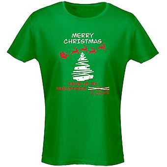 Christmas Jumper T Shirt Xmas Womens T-Shirt 8 Colours (8-20) by swagwear
