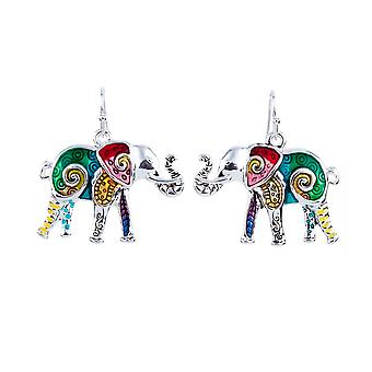 Parure: Necklace and earrings Multicolor Elephant