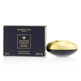 Guerlain Orchidee Imperiale ekstraordinære kompletteanvisninger øje & læbe kontur cremen - 15ml/0.5 oz