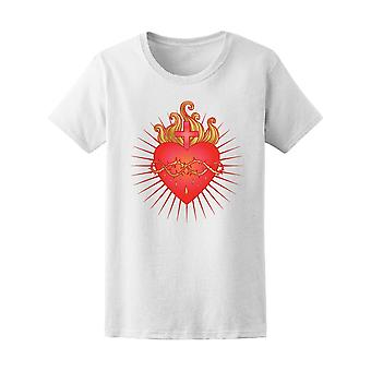 Sacred Heart Of Jesus With Rays Tee Women's -Image by Shutterstock