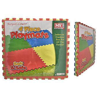 M.Y Large 4pc Eva Playmats Childrens Playing Safety 60cm x 60cm