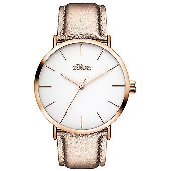 s.Oliver Damen Uhr Armbanduhr Leder SO-3510-LQ