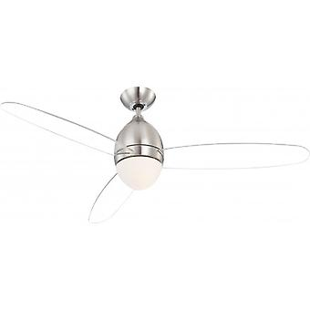 Globo Ceiling Fan Premier Nickel brushed 132 cm / 52