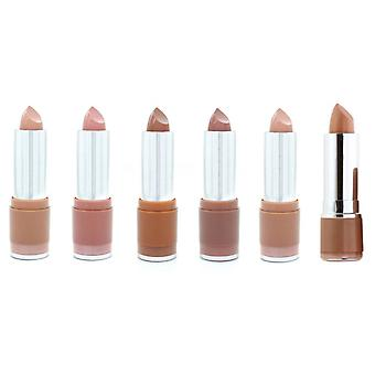 W7 FASHION LIPSTICK NUDES 6pk