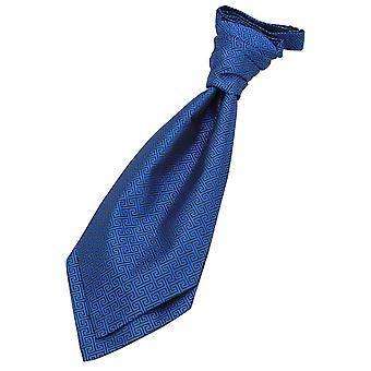 Kongeblå græske centrale pre-bundet bryllup Cravat for drenge