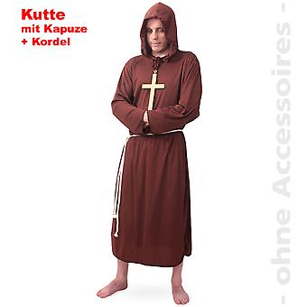 Monk costume Pater mens costume cowl Friar men's costume