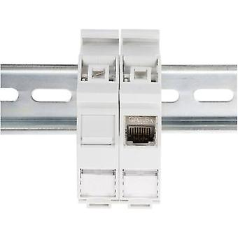 Network outlet DIN rail Digitus AN-25187