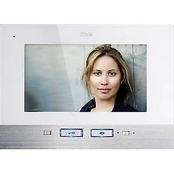 m-e modern-electronics 41025 Video door intercom Corded Indoor panel White, Stainless steel