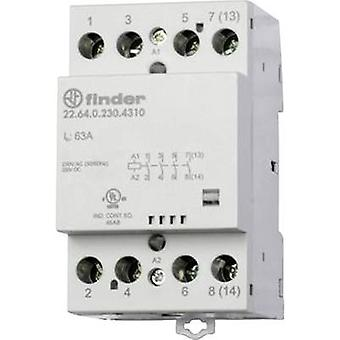 Contactor 1 pc(s) 22.64.0.024.4310 Finder 4 makers 24 Vdc, 24 V AC 63 A