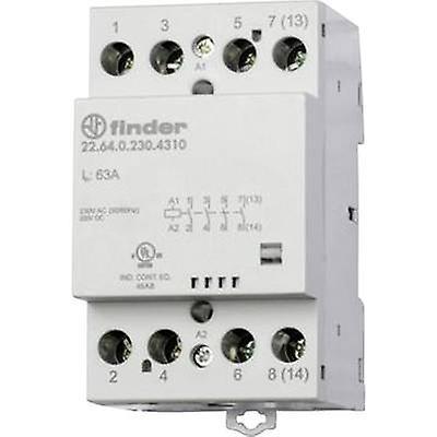 Finder 22.64.0.230.4710 Contactor 1 pc(s) 3 makers, 1 breaker 230 Vdc, 230 V AC 63 A
