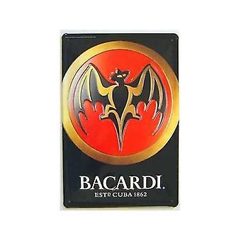 Bacardi Bat (staand) reliëf Metal Sign
