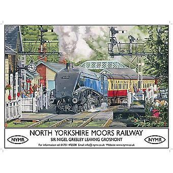 North Yorkshire Moors Railway Metal Sign (200Mm X 150Mm Sm)