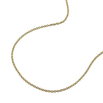 Gold anchor chain 375 gold chain, 45 cm, thin chain, 9 KT GOLD
