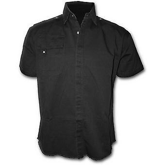 Spiral Metal Streetwear Short Sleeved Stone Washed Workshirt XXL