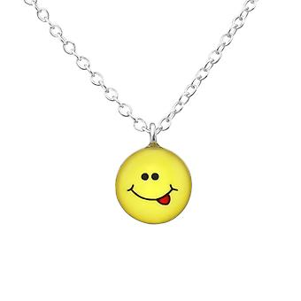 Cheeky Face - 925 Sterling Silver Necklaces - W35135x