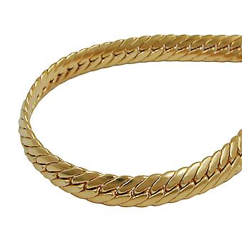 Bracelet 5mm armoured oval pressed gold plated 21 cm AMD